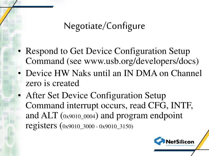 Negotiate/Configure