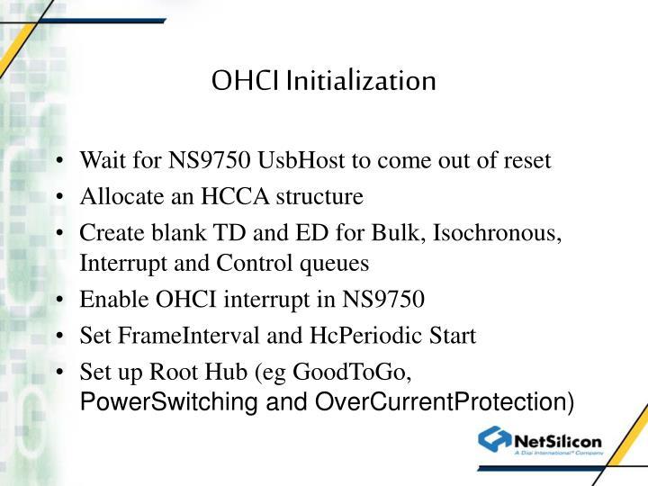 OHCI Initialization