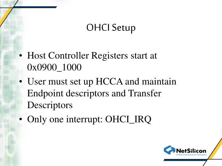 OHCI Setup