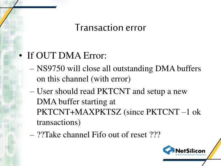 Transaction error