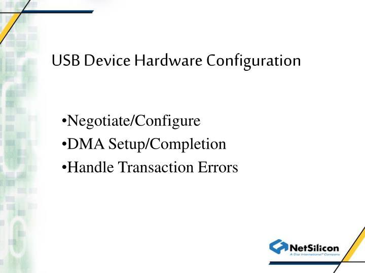 USB Device Hardware Configuration