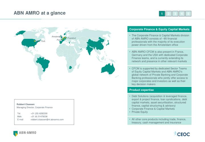 ABN AMRO at a glance