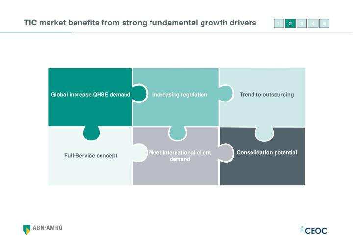 TIC market benefits from strong fundamental growth drivers