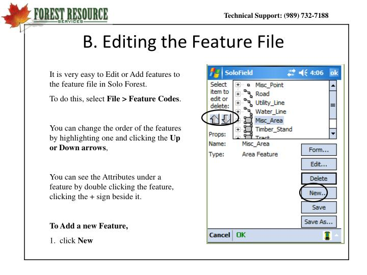 B. Editing the Feature File