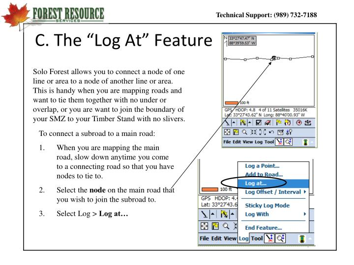 "C. The ""Log At"" Feature"