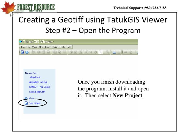 Creating a Geotiff using TatukGIS Viewer