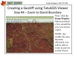 creating a geotiff using tatukgis viewer step 4 zoom to stand boundary