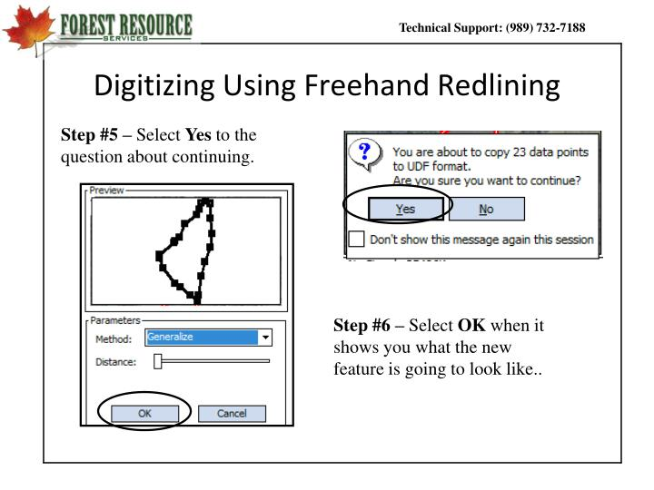 Digitizing Using Freehand Redlining