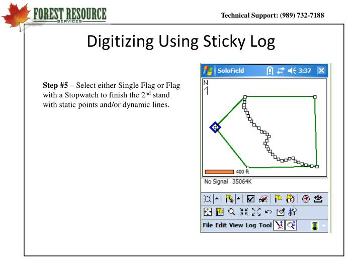 Digitizing Using Sticky Log