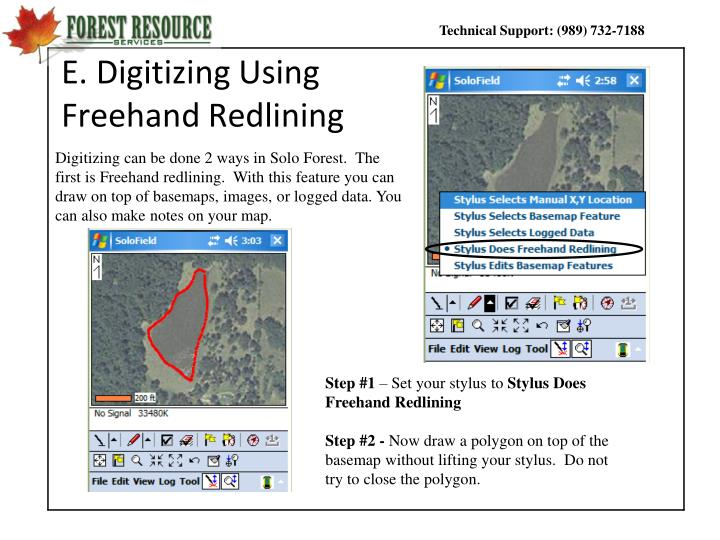 E. Digitizing Using