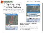 e digitizing using freehand redlining