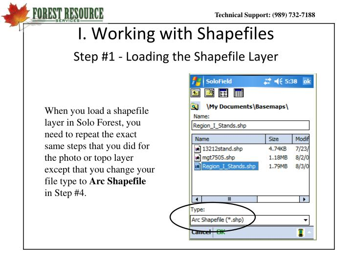 I. Working with Shapefiles