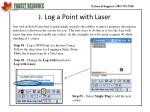 j log a point with laser