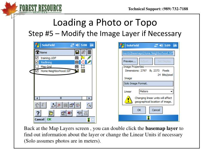 Loading a Photo or Topo