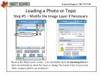 loading a photo or topo step 5 modify the image layer if necessary