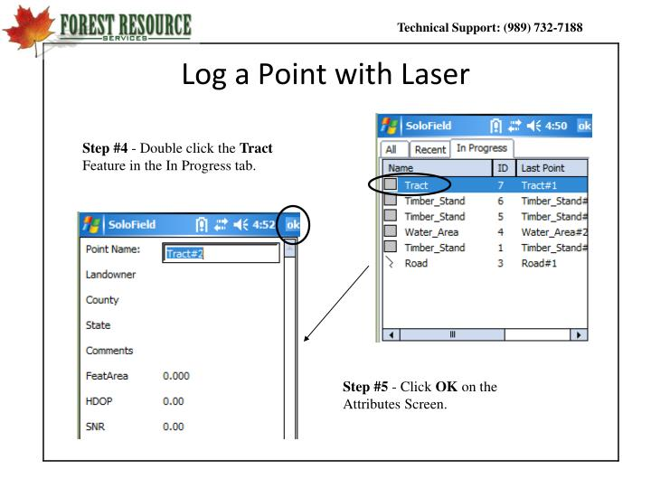 Log a Point with Laser