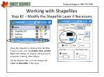 working with shapefiles step 2 modify the shapefile layer if necessary