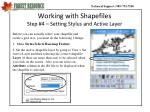 working with shapefiles step 4 setting stylus and active layer