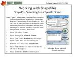 working with shapefiles step 5 searching for a specific stand