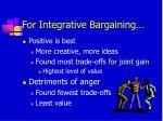 for integrative bargaining