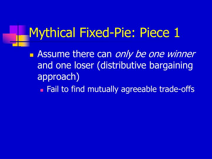 Mythical Fixed-Pie: Piece 1