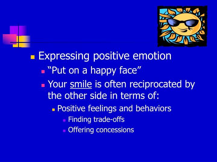 Expressing positive emotion