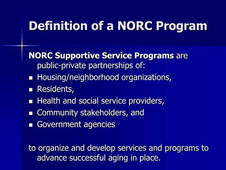 Definition of a NORC Program