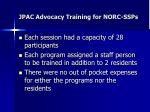 jpac advocacy training for norc ssps2
