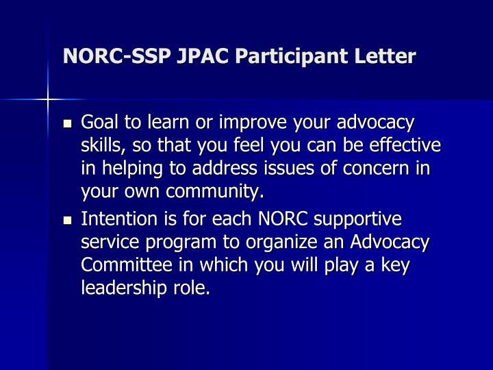 NORC-SSP JPAC Participant Letter