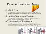 idha acronyms and terms4