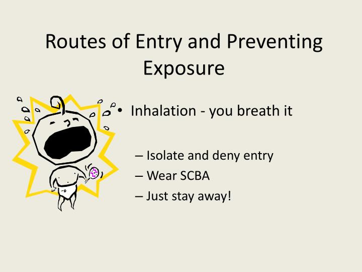 Routes of Entry and Preventing Exposure