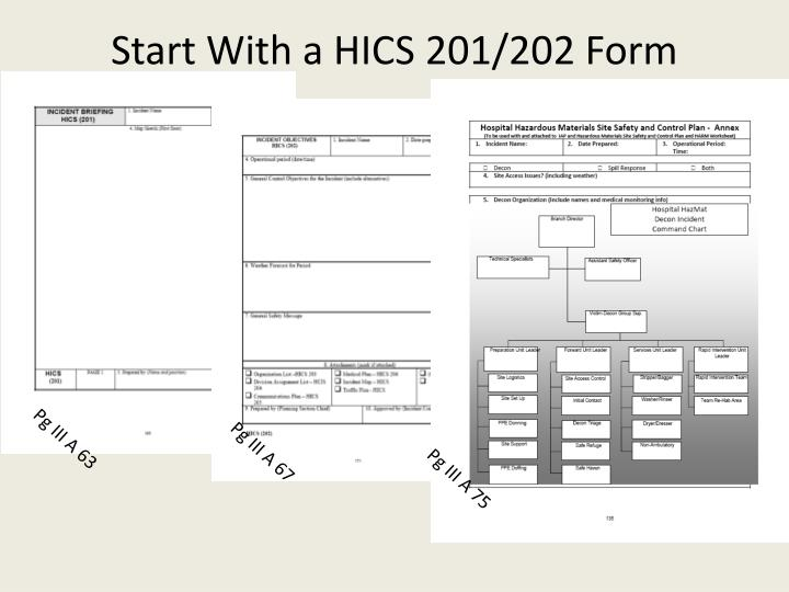 Start With a HICS 201/202 Form