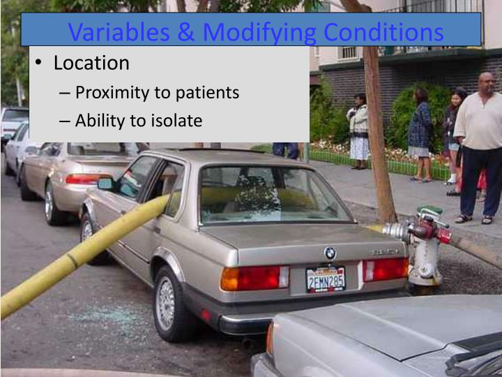 Variables & Modifying Conditions