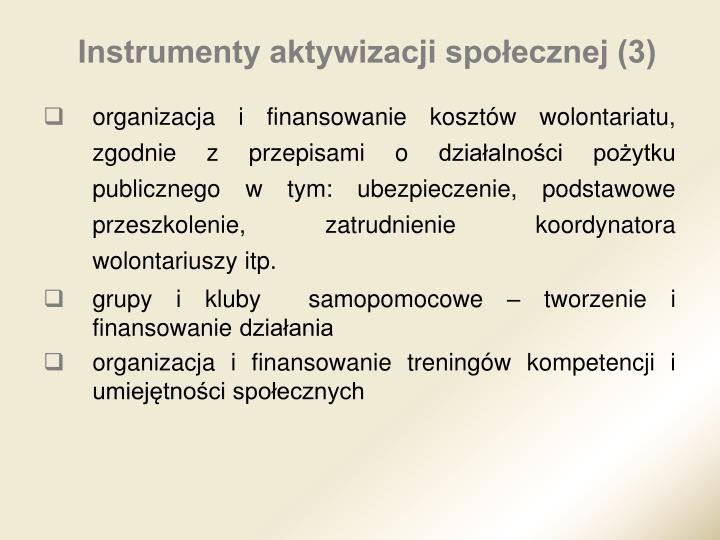 Instrumenty aktywizacji społecznej (3)