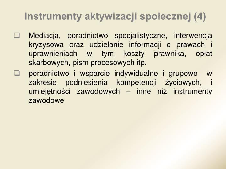 Instrumenty aktywizacji społecznej (4)
