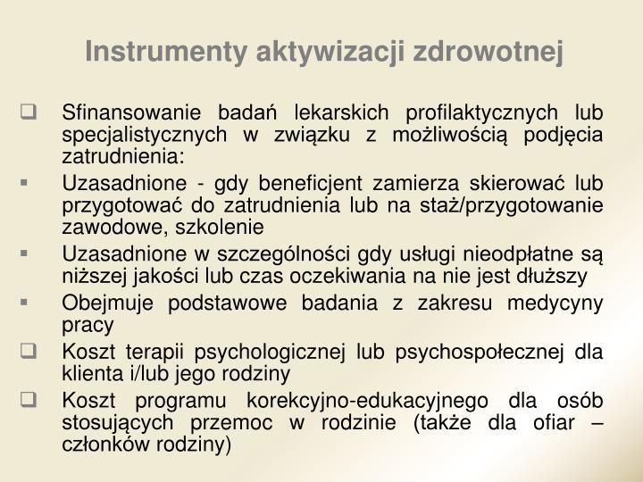 Instrumenty aktywizacji zdrowotnej