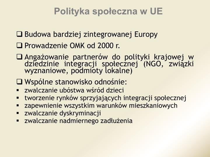 Polityka społeczna w UE
