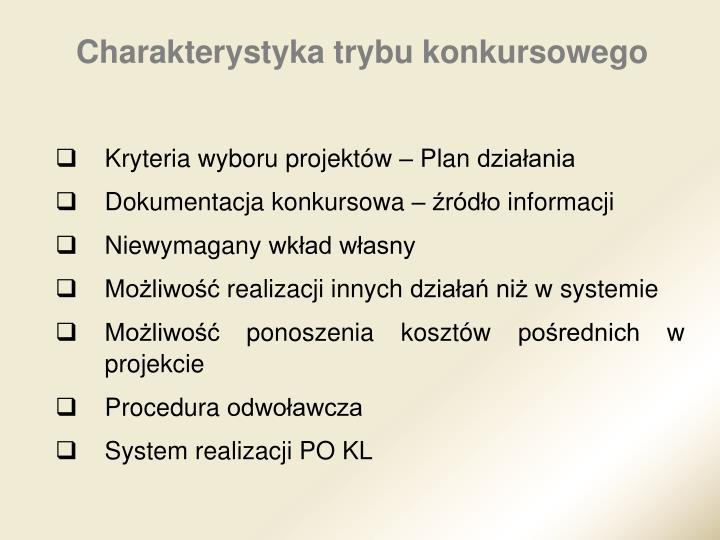 Kryteria wyboru projektów – Plan działania
