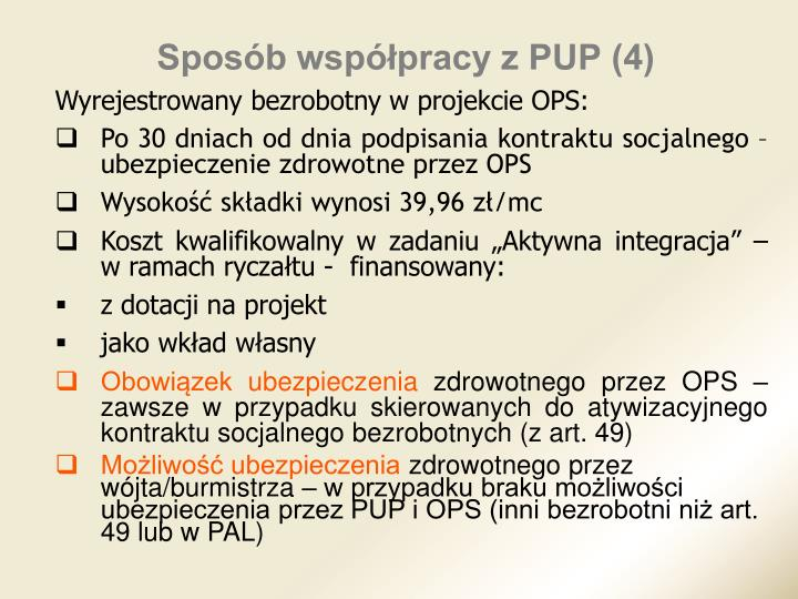 Sposób współpracy z PUP (4)