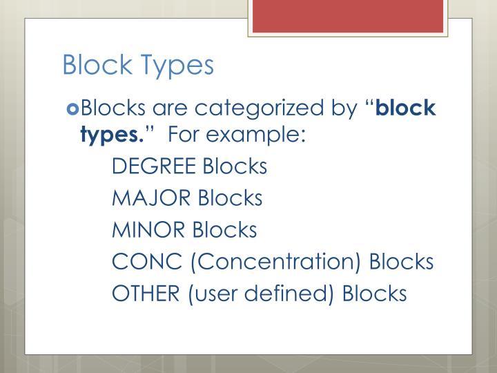 Block Types