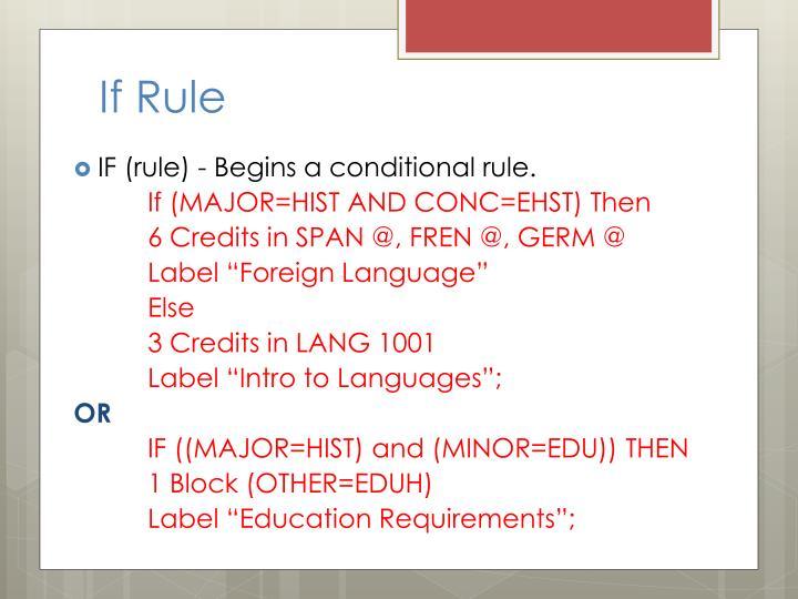 If Rule