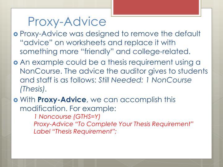 Proxy-Advice