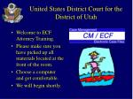united states district court for the district of utah
