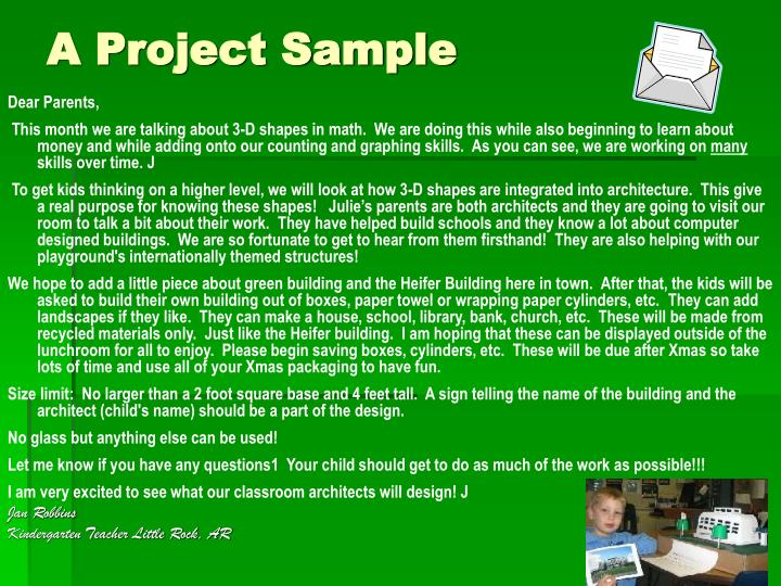 A Project Sample
