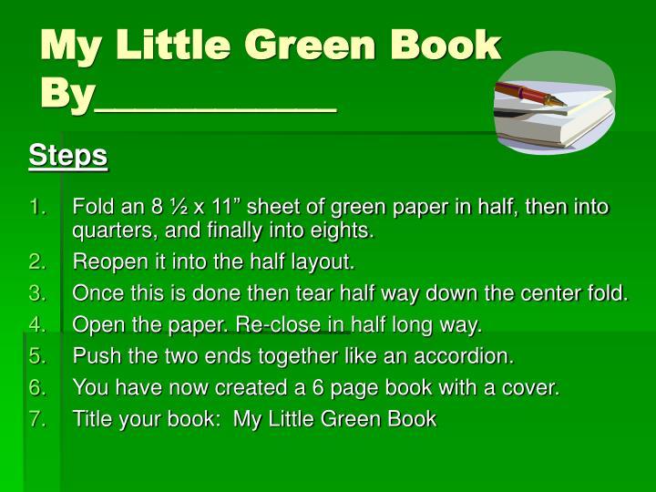 My Little Green Book