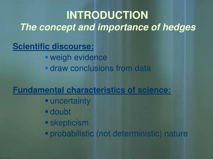 Introduction the concept and importance of hedges