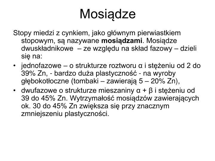Mosiądze