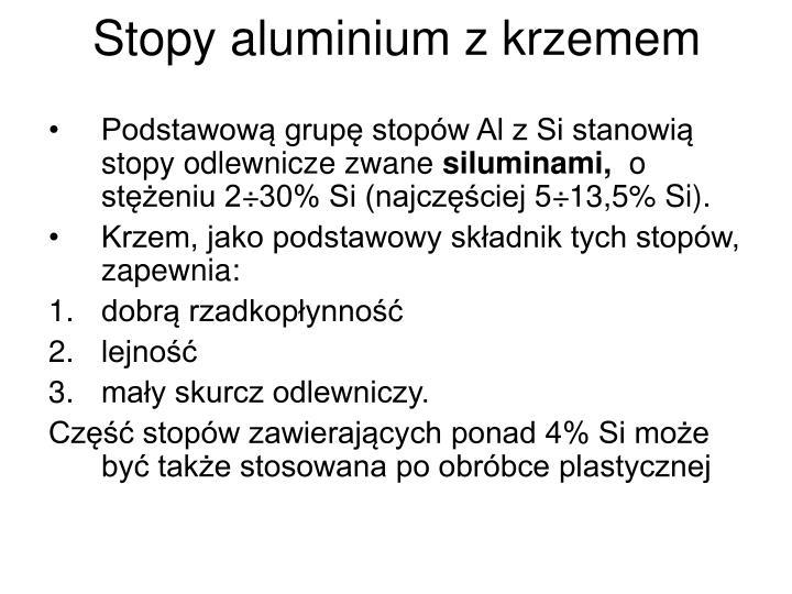Stopy aluminium z krzemem