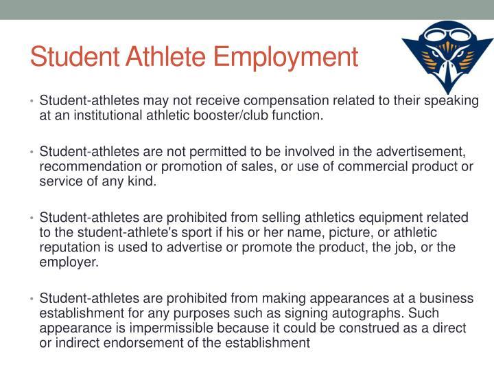 Student Athlete Employment