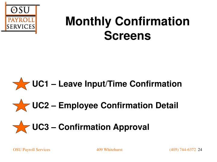UC1 – Leave Input/Time Confirmation